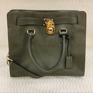 Michael Kors Hamilton Large Olive North South Tote